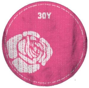 30Y Felvasalható embléma (Rózsa)