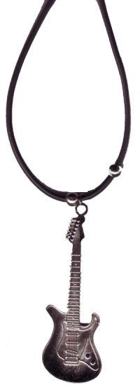 Gitár nyaklánc (ezüst színben)