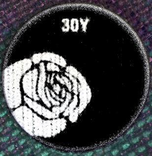 30Y kitűző (Rózsa No.1)
