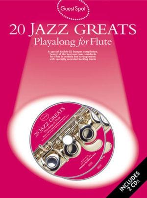 20 Jazz Greats: Playalong for Flute - kotta + 2CD