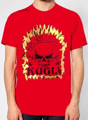 Kugli - 35 év Rock - férfi póló (piros)