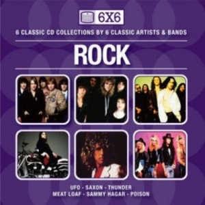 6 X 6 (Rock) - Sammy Hagar,  Meat Loaf,  Poison,  Saxon,  Thunder,  UFO - 6CD Box