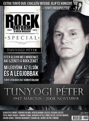 Tunyogi Péter - Rockinform Special újság + P. Mobil koncert DVD + poszter